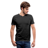 Customizable Men's V-Neck T-Shirt add your own photos, images, designs, quotes, texts and more - black