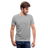 Customizable Men's V-Neck T-Shirt add your own photos, images, designs, quotes, texts and more - heather gray