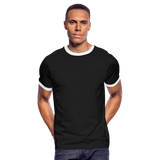 Customizable Men's Ringer T-Shirt add your own photos, images, designs, quotes, texts and more - black/white