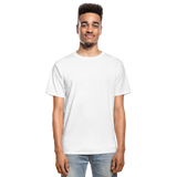 Customizable Hanes Adult Tagless T-Shirt add your own photos, images, designs, quotes, texts and more - white