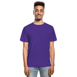 Customizable Hanes Adult Tagless T-Shirt add your own photos, images, designs, quotes, texts and more - purple