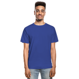 Customizable Hanes Adult Tagless T-Shirt add your own photos, images, designs, quotes, texts and more - royal blue