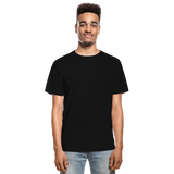 Customizable Hanes Adult Tagless T-Shirt add your own photos, images, designs, quotes, texts and more - black