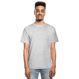 Customizable Hanes Adult Tagless T-Shirt add your own photos, images, designs, quotes, texts and more - heather gray