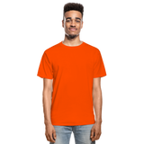 Customizable Hanes Adult Tagless T-Shirt add your own photos, images, designs, quotes, texts and more - orange