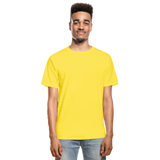 Customizable Hanes Adult Tagless T-Shirt add your own photos, images, designs, quotes, texts and more - yellow