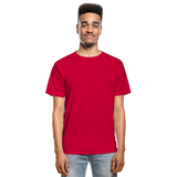 Customizable Hanes Adult Tagless T-Shirt add your own photos, images, designs, quotes, texts and more - red