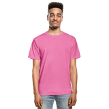 Customizable Hanes Adult Tagless T-Shirt add your own photos, images, designs, quotes, texts and more - hot pink