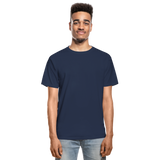 Customizable Hanes Adult Tagless T-Shirt add your own photos, images, designs, quotes, texts and more - navy