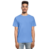 Customizable Hanes Adult Tagless T-Shirt add your own photos, images, designs, quotes, texts and more - carolina blue