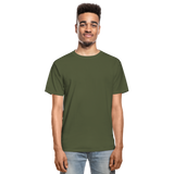 Customizable Hanes Adult Tagless T-Shirt add your own photos, images, designs, quotes, texts and more - military green