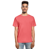 Customizable Hanes Adult Tagless T-Shirt add your own photos, images, designs, quotes, texts and more - coral