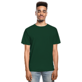 Customizable Hanes Adult Tagless T-Shirt add your own photos, images, designs, quotes, texts and more - forest green