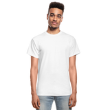 Customizable Gildan Ultra Cotton Adult T-Shirt add your own photos, images, designs, quotes, texts and more - white