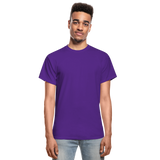 Customizable Gildan Ultra Cotton Adult T-Shirt add your own photos, images, designs, quotes, texts and more - purple
