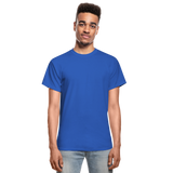 Customizable Gildan Ultra Cotton Adult T-Shirt add your own photos, images, designs, quotes, texts and more - royal blue