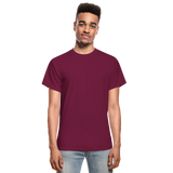 Customizable Gildan Ultra Cotton Adult T-Shirt add your own photos, images, designs, quotes, texts and more - burgundy
