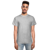 Customizable Gildan Ultra Cotton Adult T-Shirt add your own photos, images, designs, quotes, texts and more - heather gray