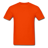 Customizable Gildan Ultra Cotton Adult T-Shirt add your own photos, images, designs, quotes, texts and more - orange