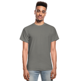 Customizable Gildan Ultra Cotton Adult T-Shirt add your own photos, images, designs, quotes, texts and more - charcoal