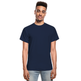 Customizable Gildan Ultra Cotton Adult T-Shirt add your own photos, images, designs, quotes, texts and more - navy