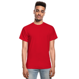Customizable Gildan Ultra Cotton Adult T-Shirt add your own photos, images, designs, quotes, texts and more - red