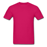 Customizable Gildan Ultra Cotton Adult T-Shirt add your own photos, images, designs, quotes, texts and more - fuchsia