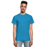 Customizable Gildan Ultra Cotton Adult T-Shirt add your own photos, images, designs, quotes, texts and more - turquoise