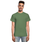 Customizable Gildan Ultra Cotton Adult T-Shirt add your own photos, images, designs, quotes, texts and more - military green