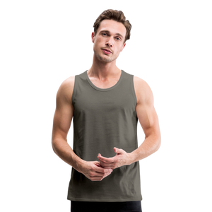 Customizable Men's Premium Tank add your own photos, images, designs, quotes, texts and more - asphalt gray
