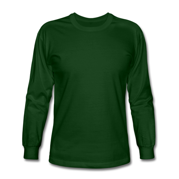 Customizable Men's Long Sleeve T-Shirt add your own photos, images, designs, quotes, texts and more - forest green