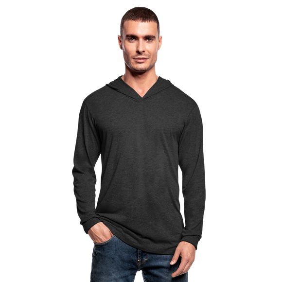 Customizable Unisex Tri-Blend Hoodie Shirt add your own photos, images, designs, quotes, texts and more - heather black