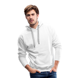 Customizable Men's Premium Hoodie add your own photos, images, designs, quotes, texts and more - white