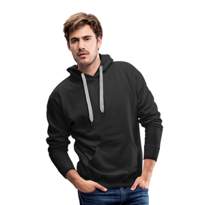 Customizable Men's Premium Hoodie add your own photos, images, designs, quotes, texts and more - black