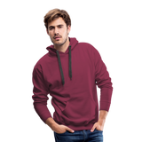 Customizable Men's Premium Hoodie add your own photos, images, designs, quotes, texts and more - burgundy