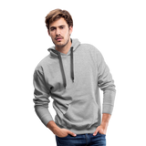 Customizable Men's Premium Hoodie add your own photos, images, designs, quotes, texts and more - heather gray