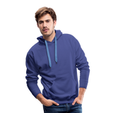 Customizable Men's Premium Hoodie add your own photos, images, designs, quotes, texts and more - royalblue