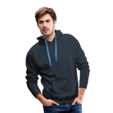 Customizable Men's Premium Hoodie add your own photos, images, designs, quotes, texts and more - navy