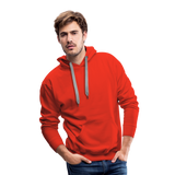 Customizable Men's Premium Hoodie add your own photos, images, designs, quotes, texts and more - red