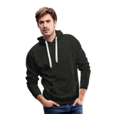 Customizable Men's Premium Hoodie add your own photos, images, designs, quotes, texts and more - charcoal gray