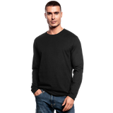 Customizable Men's Long Sleeve T-Shirt by Next Level add your own photos, images, designs, quotes, texts and more - black