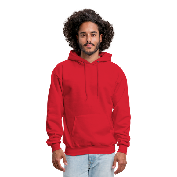 Customizable Men's Hoodie add your own photos, images, designs, quotes, texts and more - red