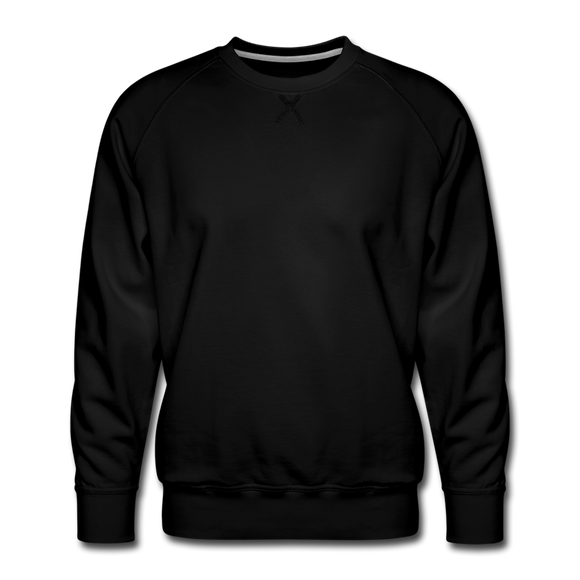 Customizable Men's Premium Sweatshirt add your own photos, images, designs, quotes, texts and more - black