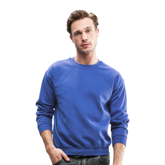 Customizable Crewneck Sweatshirt add your own photos, images, designs, quotes, texts and more - royal blue