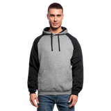 Customizable Unisex Color block Hoodie add your own photos, images, designs, quotes, texts and more - heather gray/black