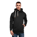 Customizable Shawl Collar Hoodie add your own photos, images, designs, quotes, texts and more - black