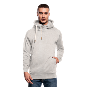 Customizable Shawl Collar Hoodie add your own photos, images, designs, quotes, texts and more - heather oatmeal