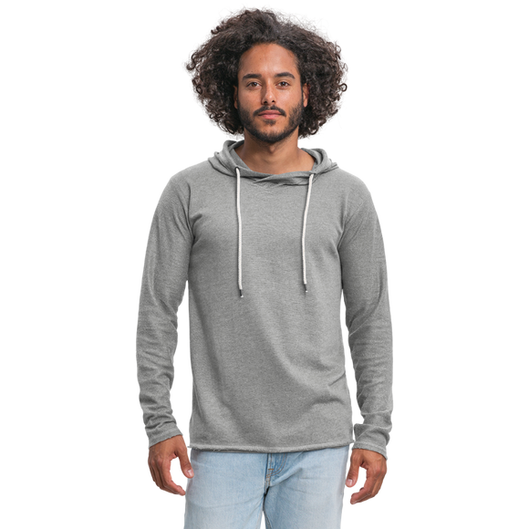 Customizable Unisex Lightweight Terry Hoodie add your own photos, images, designs, quotes, texts and more - heather gray
