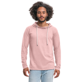 Customizable Unisex Lightweight Terry Hoodie add your own photos, images, designs, quotes, texts and more - cream heather pink