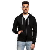 Customizable Unisex Fleece Zip Hoodie add your own photos, images, designs, quotes, texts and more - black